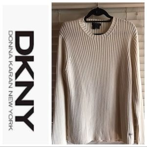 DKNY 100% Cotton Sweater Size Large